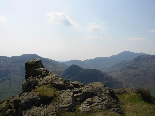 Lingmoor Fell, Side Pike and Wetherlam from Pike Howe