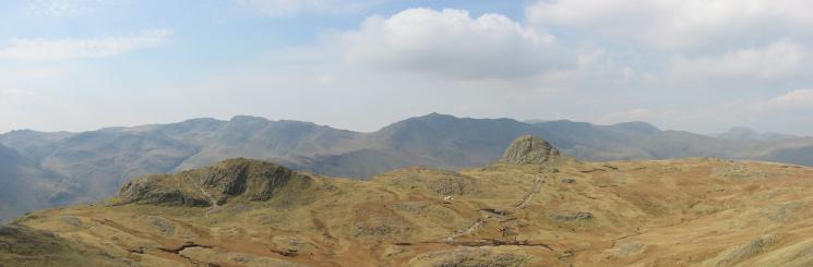 Loft Crag and Pike O' Stickle from Harrison Stickle