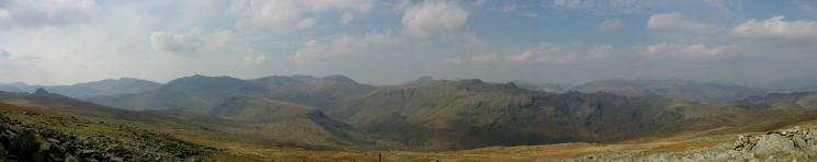 Westerly panorama from High Raise's summit