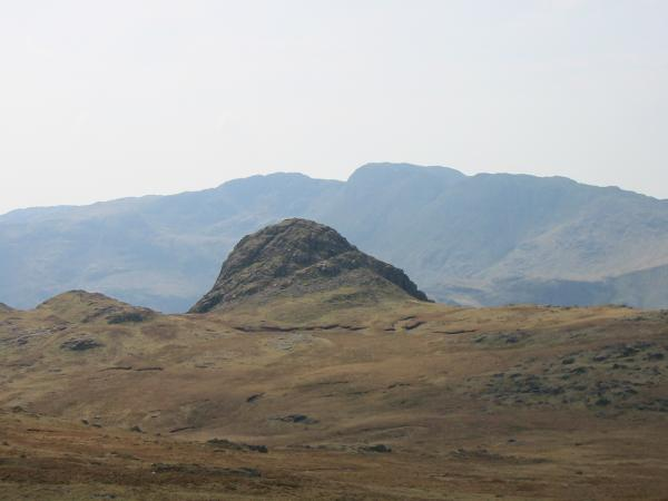 Pike O' Stickle with Crinkle Crags behind