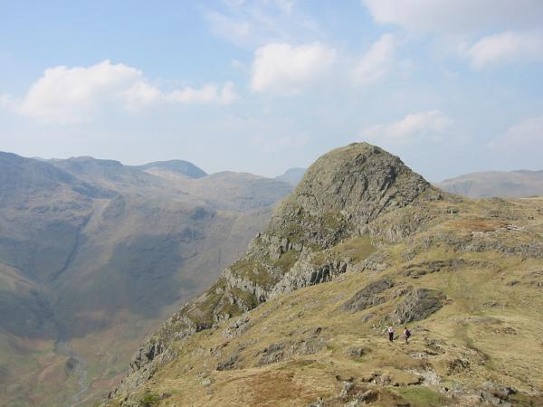 Looking back to Pike O' Stickle from Loft Crag