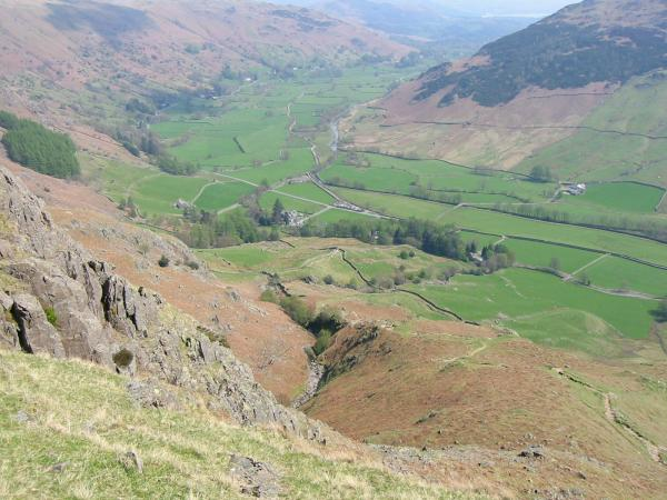 Looking back down into Great Langdale from Mark Gate