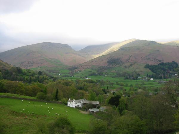 Seat Sandal, Fairfield lost in cloud, Great Rigg and Stone Arthur