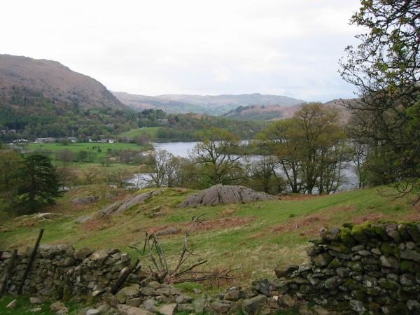 A glimpse of Grasmere through the trees