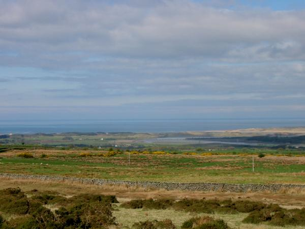 Looking west to the mouth of the River Esk and the sea