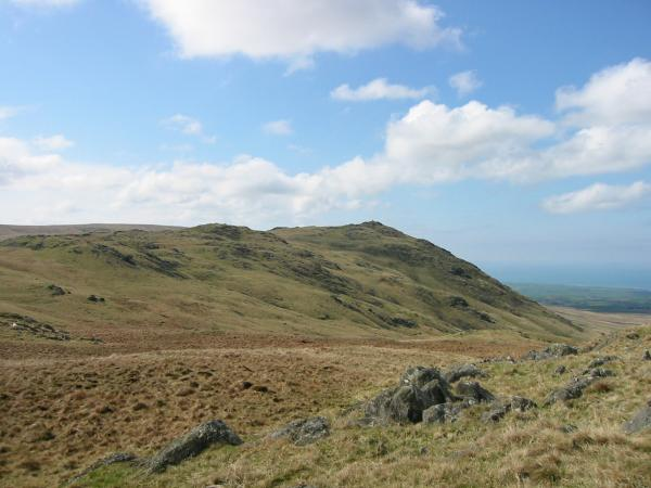 Looking back to Stainton Pike from the ascent of Yoadcastle