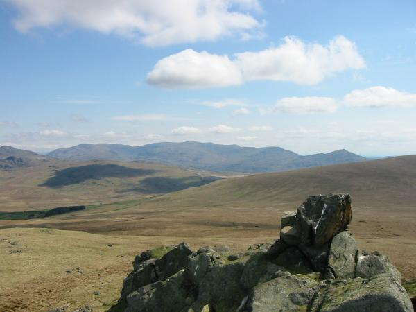 The Coniston Fells from Yoadcastle's summit