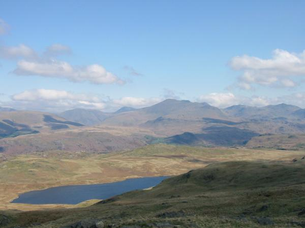 Devoke Water and the high fells from White Pike