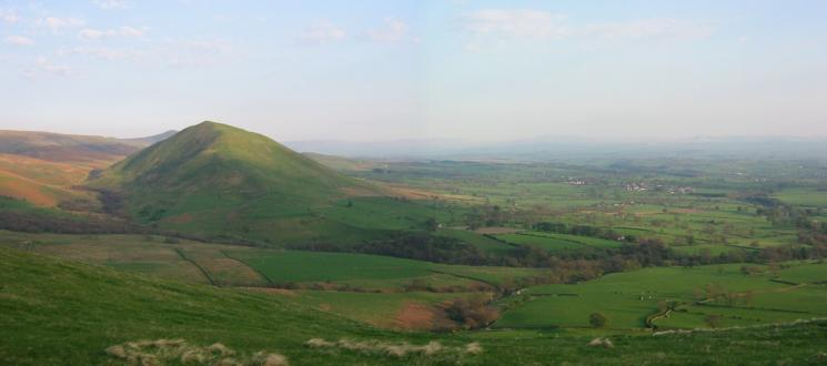 Dufton Pike and the village of Dufton from Knock Pike summit