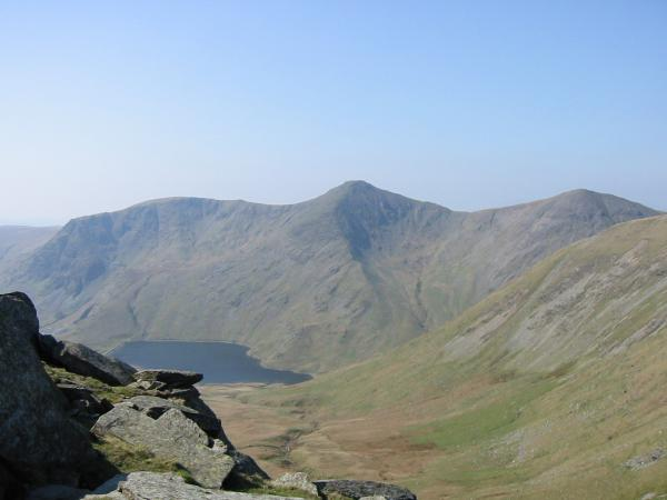Yoke, Ill Bell and Froswick with Kentmere Reservoir below