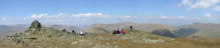 Northerly panorama from Ill Bell's summit