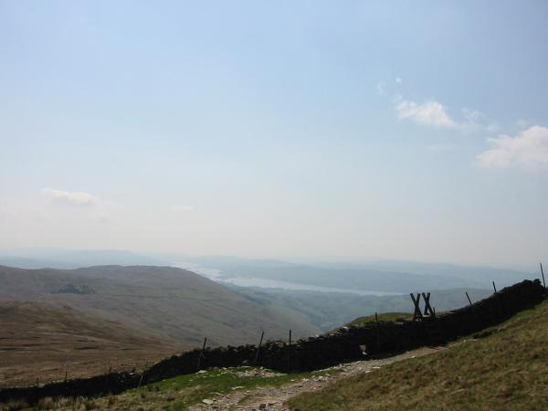 Windermere from the descent off Yoke to the Garburn Pass