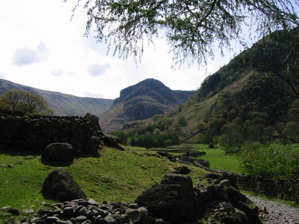 Eagle Crag from near Stonethwaite