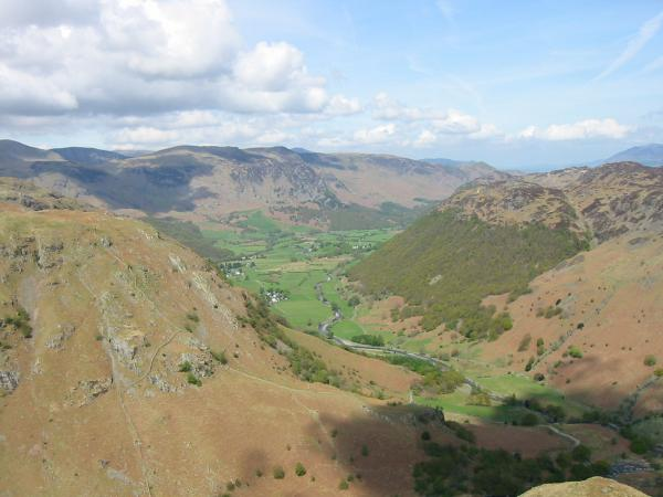 Borrowdale view from the ascent