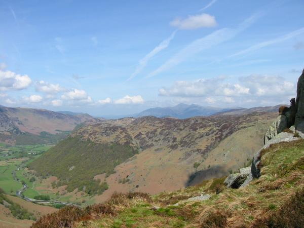 Looking north over Great Crag to Skiddaw