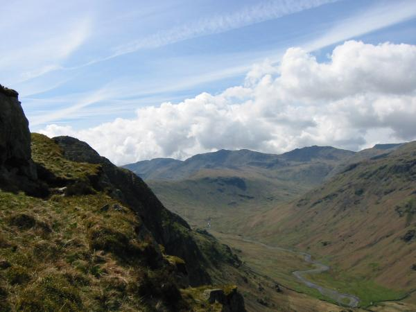 ...and south up Langstrath to Crinkle Crags, Bowfell and Esk Pike