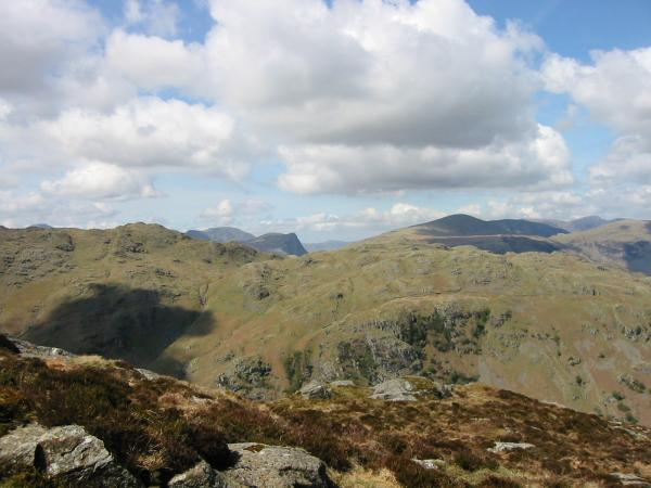Looking over Rosthwaite Fell to Honister Crag