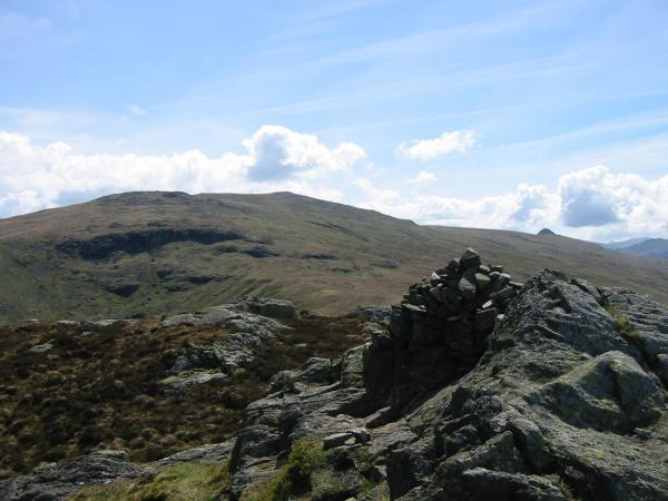 High Raise and Pike O' Stickle from Sergeant's Crag summit