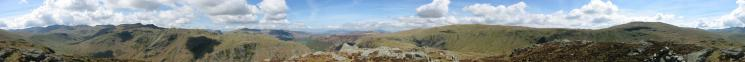360 Panorama from Sergeant's Crag's summit
