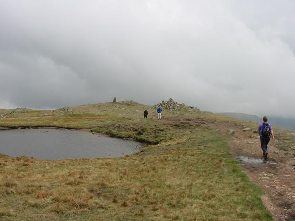 Approaching Red Screes summit