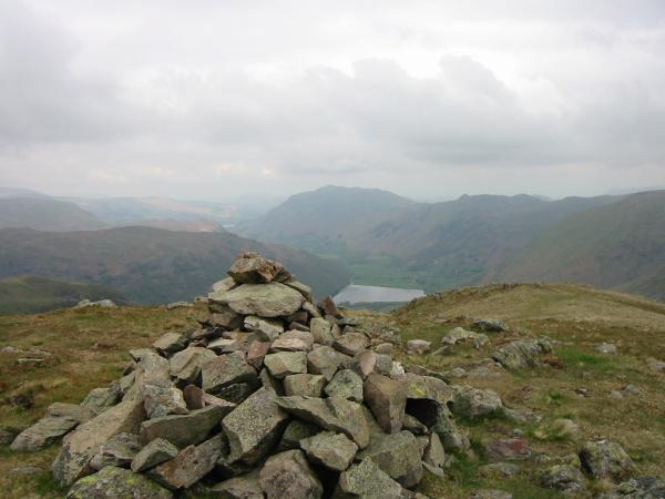 Place Fell and Brothers Water from Middle Dodd's summit