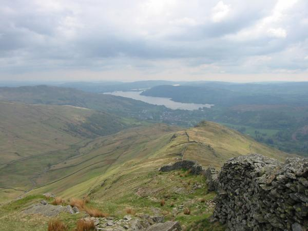 Windermere, Ambleside and Low Pike from the descent off High Pike