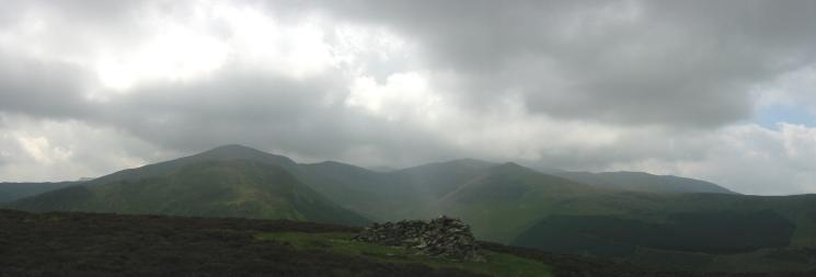 Grisedale Pike, Hopegill Head, Ladyside Pike and Whiteside from Brown How