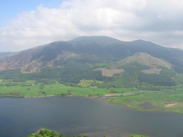 Looking across Bassenthwaite Lake to the Skiddaw fells from Barf's summit