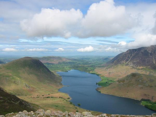 Mellbreak, Crummock Water, Rannerdale Knotts and Grasmoor from Dodd's summit