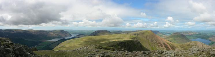 Westerly panorama from High Stile