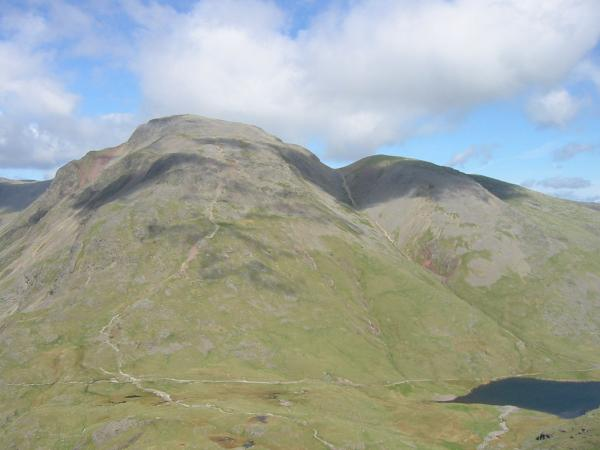 Great Gable, Green Gable and Styhead Tarn from The Band, Great End