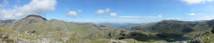 Northerly panorama from The Band, Great End