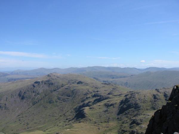 ...and over Glaramara to the Helvellyn ridge