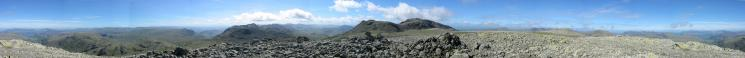 360 Panorama from Great End's summit