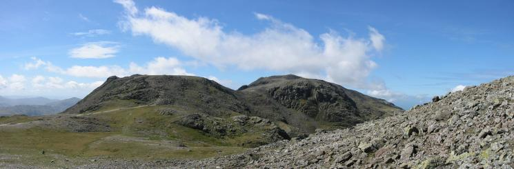 Ill Crag, Scafell Pike and Broad Crag from Great End