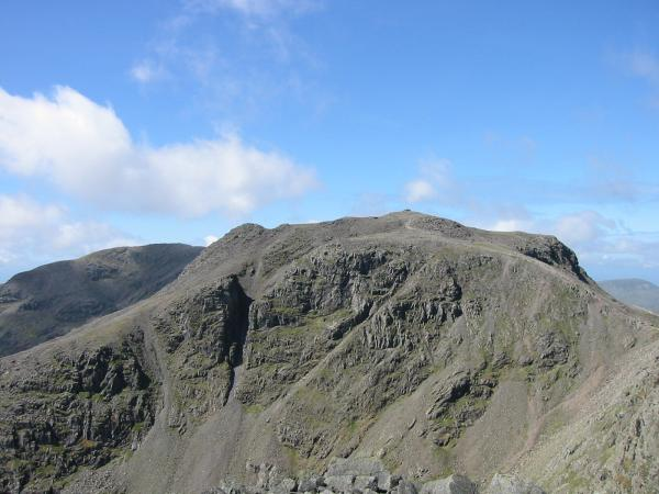 Scafell Pike from Ill Crag's summit