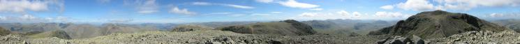 360 Panorama from Broad Crag's summit