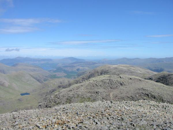 The view north from Scafell Pike's summit