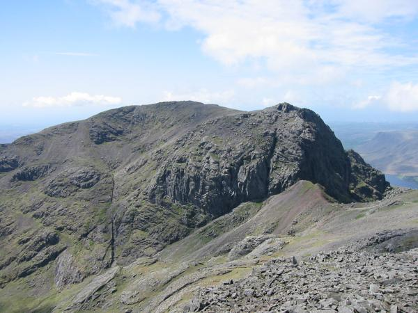 Scafell and Mickledore from Scafell Pike's south top