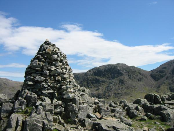 Broad Crag from Lingmell's summit cairn