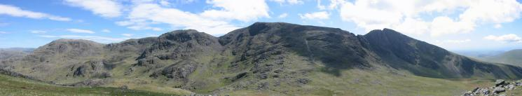 Great End, Broad Crag, Scafell Pike and Scafell from Lingmell