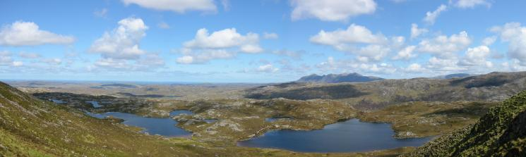 Northerly panorama from the ascent