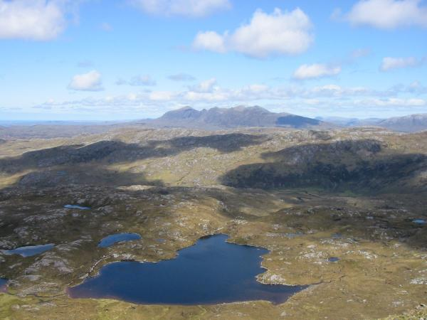 Looking over Loch a' Choire Dhuibh to Quinag