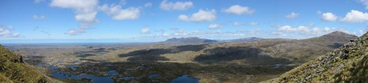A northerly panoarama from the descent