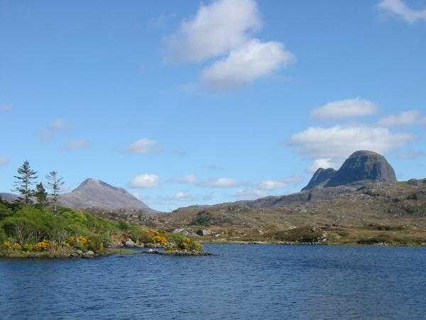 Canisp and Suilven from Loch Druim Suardalain