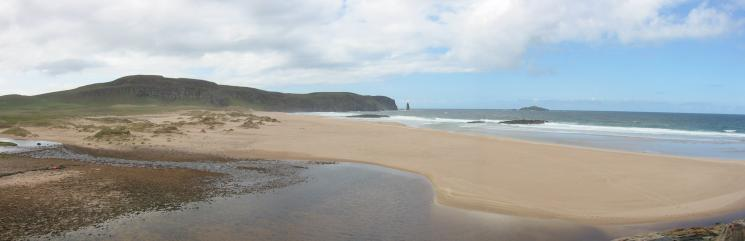 Panorama of Sandwood Bay from its north end