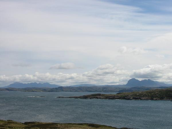 Quinag and Suilven from Achnahaird Bay