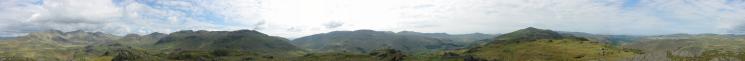 360 Panorama from Hard Knott's summit