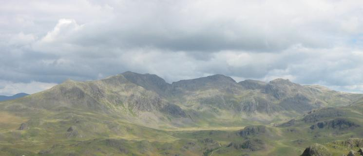 Slight Side, Scafell, Scafell Pike, Broad Crag, Ill Crag and Great End