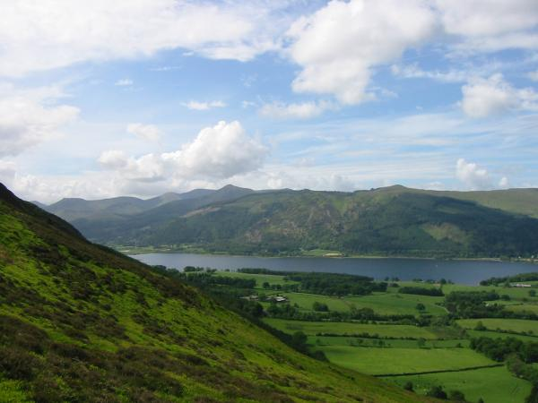 Looking over Bassenthwaite Lake to the north western fells